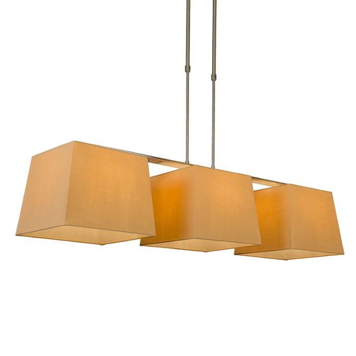 Lámpara-colgante-COMBI-Delux-3-pantallas-piramidales-30cm-beige