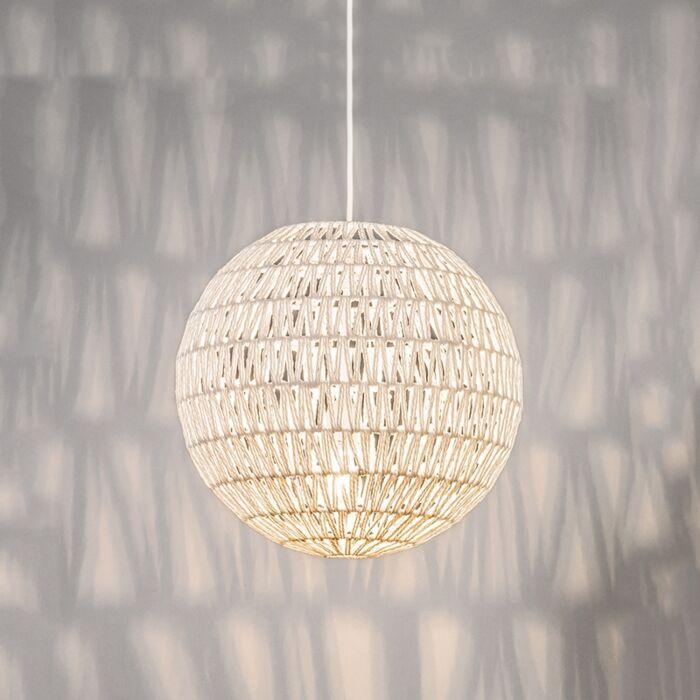 Lámpara-colgante-retro-blanca-50-cm---Lina-Ball-40