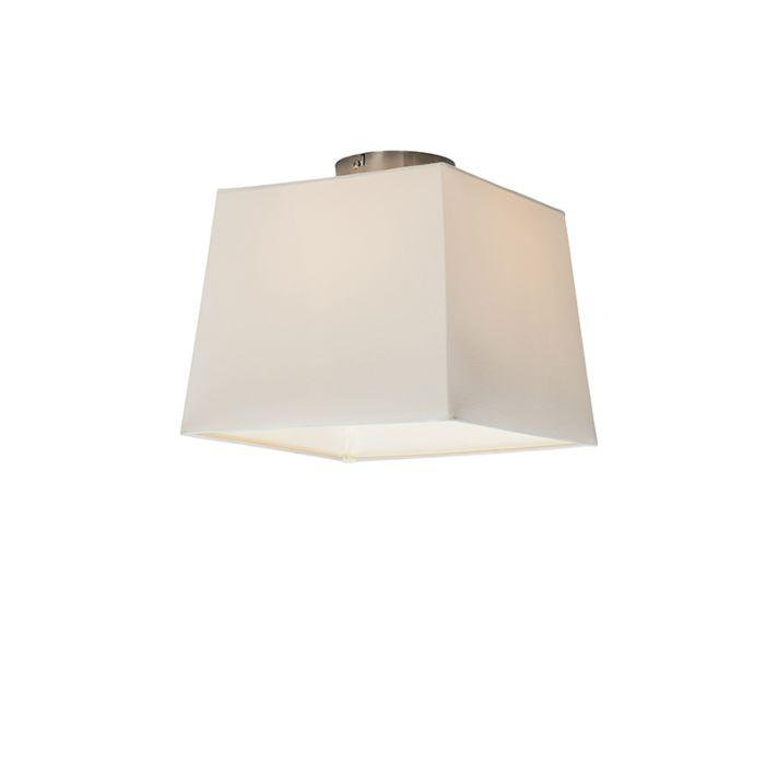 Plafón-COMBI-30cm-piramidal-blanco