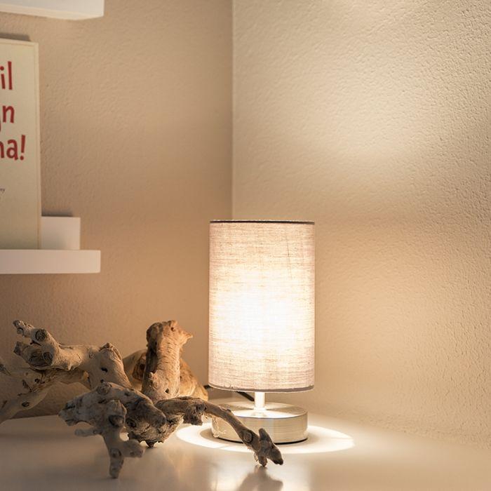 Lámpara-de-mesa-moderna-acero-gris---MILO-2
