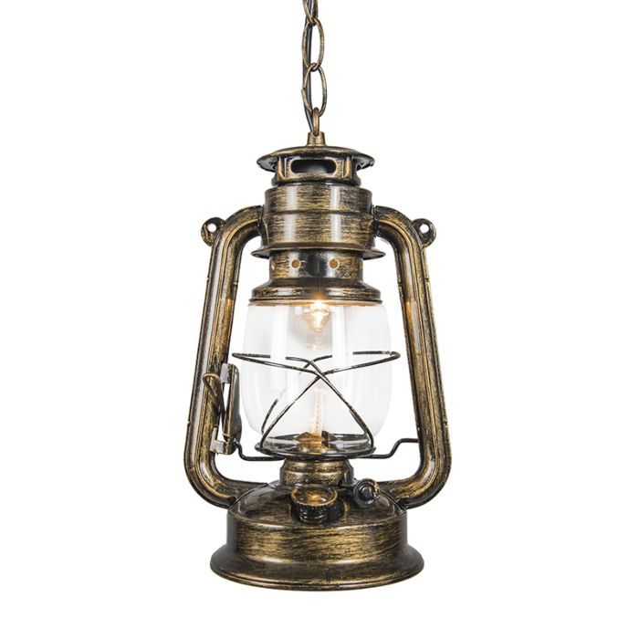 Lámpara-colgante-LATERNA-dorada