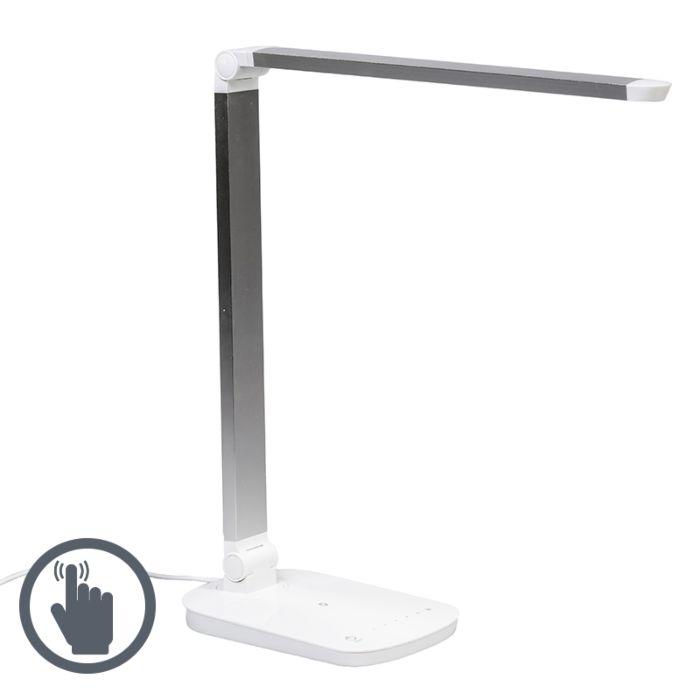 Lámpara-de-mesa-OFFICE-LED-blanco-plata