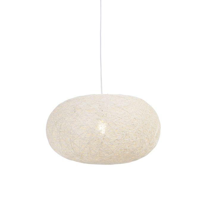 Lámpara-colgante-rústica-blanca-50cm---CORDA-Flat-50