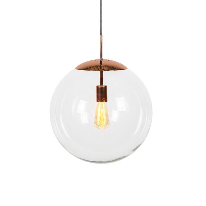 Lámpara-colgante-escandinava-cobre-cristal-transparente---BALL-40