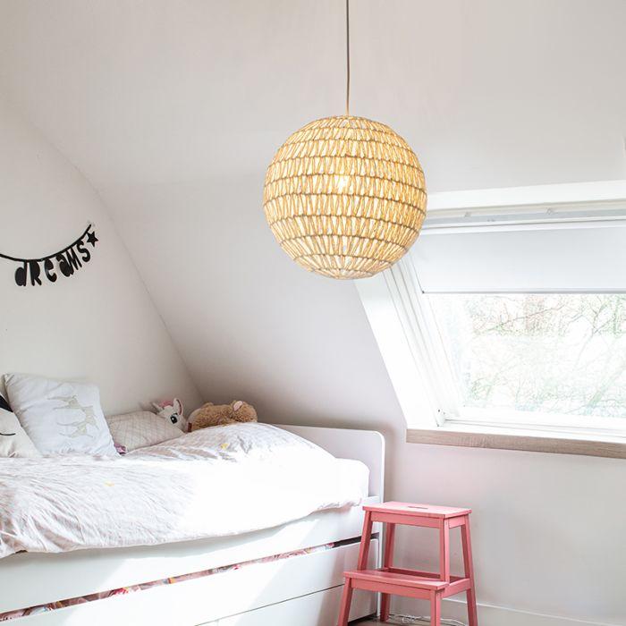 Lámpara-colgante-retro-blanca-60-cm---Lina-Ball-60
