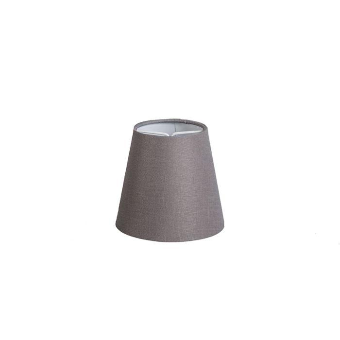 Pantalla-de-gancho-12cm-cónica-SC-lino-gris-marrón