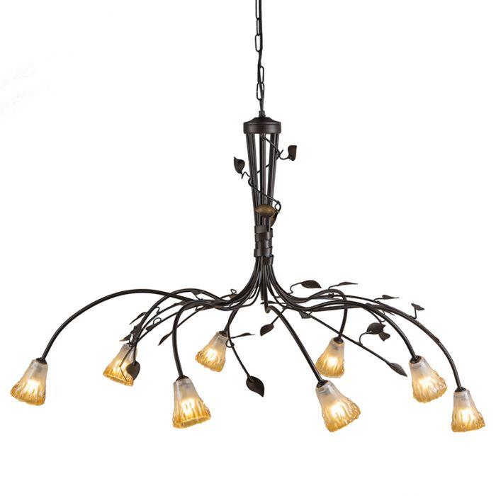 Lámpara-colgante-VEDELAGO-8-marrón-envejecido