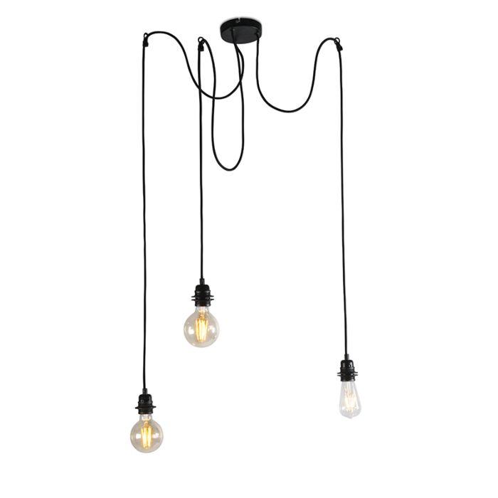 Lámpara-colgante-industrial-negra---Cava-3