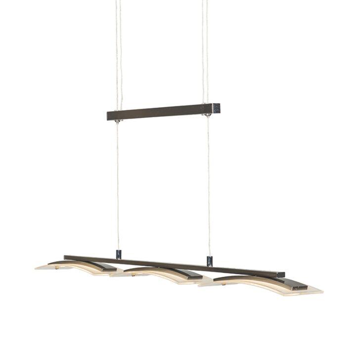 Lámpara-colgante-moderna-de-acero-ajustable-en-3-luces-con-LED---Hano