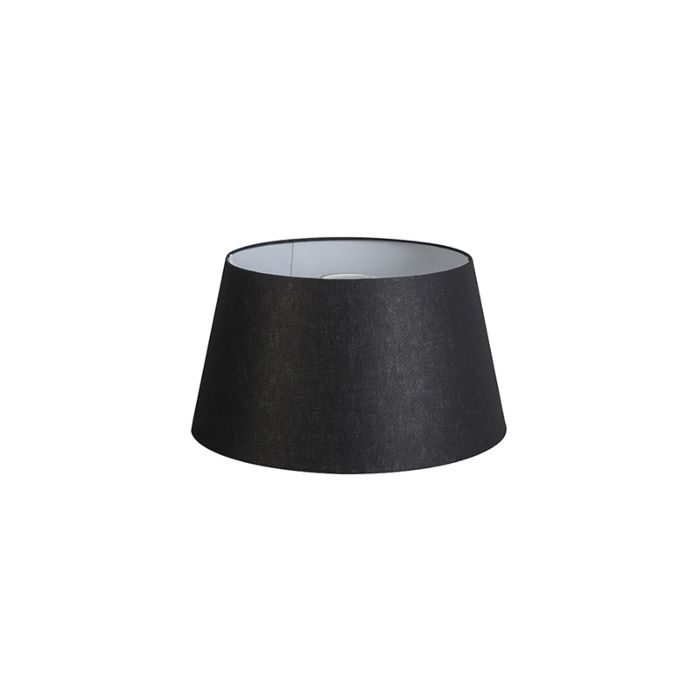 Pantalla-32cm-cónica-DS-E27-lino-negra
