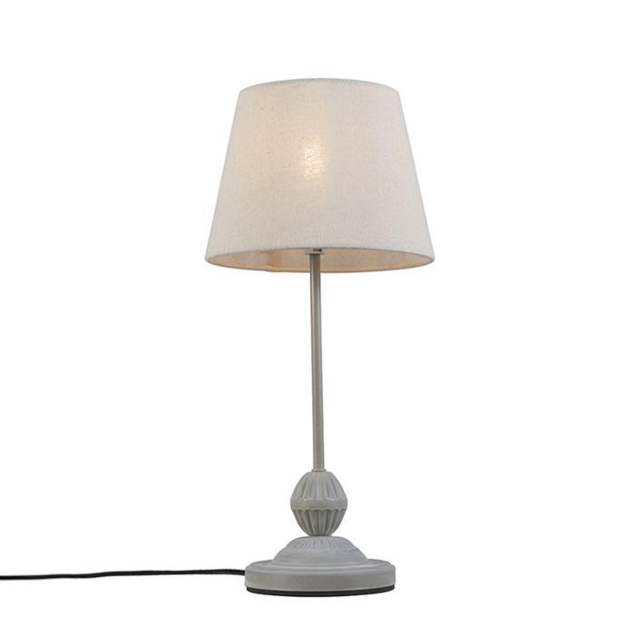 Lámpara-de-mesa-clásica-gris-blanco---Encanto