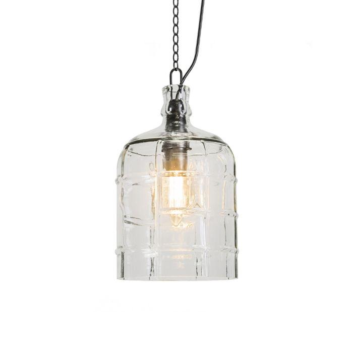 Lámpara-colgante-rústica-transparente---VASO