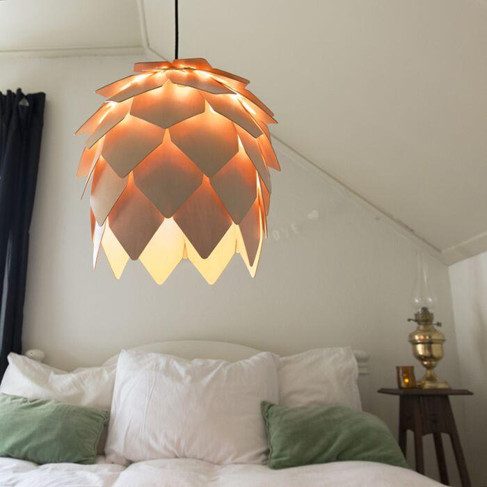 Lámpara-colgante-PLUMA-madera
