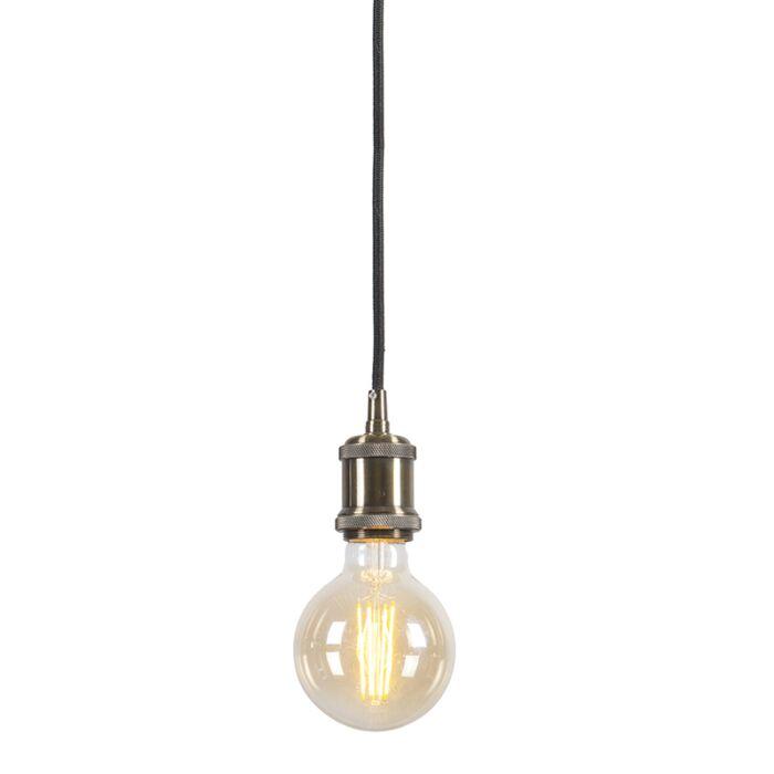 Lámpara-colgante-moderna-bronce-cable-negro---CAVA-Classic