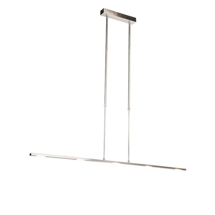 Lámpara-colgante-moderna-de-acero-con-LED,-ajustable---Negrita