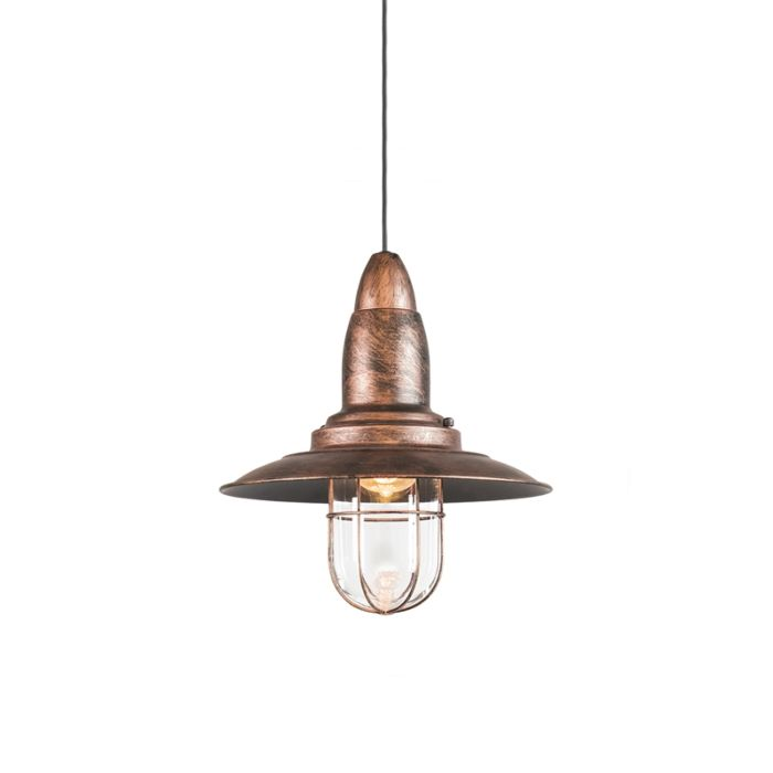 Lámpara-colgante-vintage-óxido-vidrio---PESCADOR