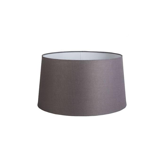 Pantalla-45cm-cónica-DS-E27-lino-gris-marrón