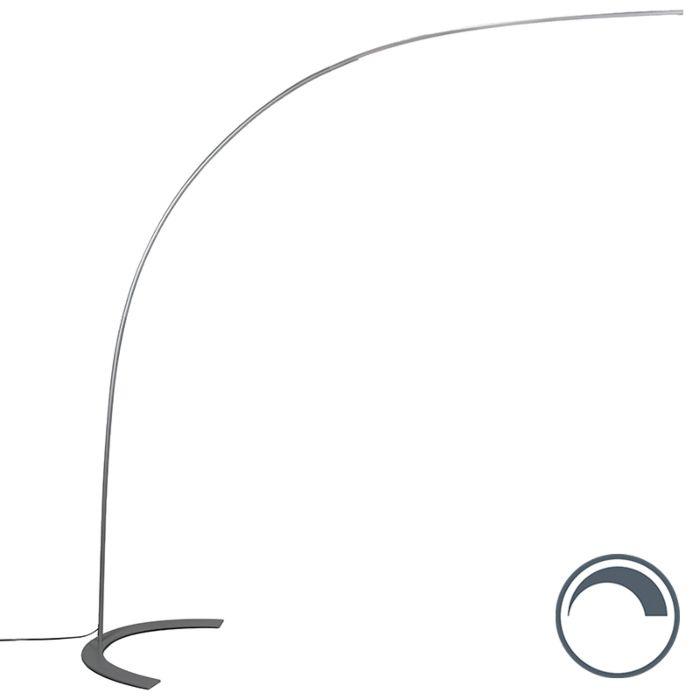 Lámpara-de-arco-diseño-gris-LED---PIEGATO