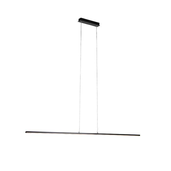 Lámpara-colgante-moderna-negra-de-150-cm-con-LED---Banda