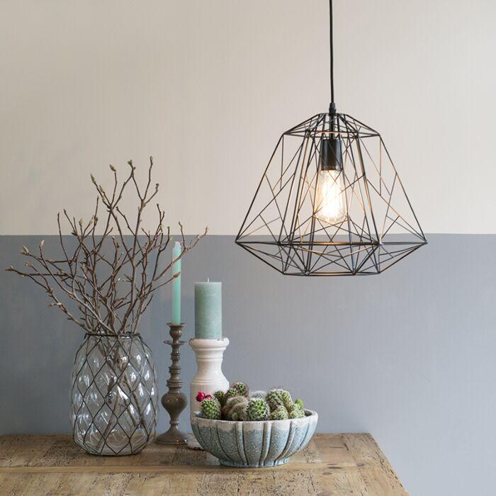 Lámpara-colgante-de-diseño-negra---Marco