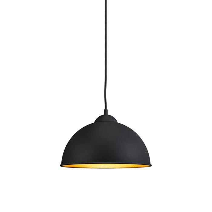 Lámpara-colgante-moderna-redonda-negra---MAGNA-Basic