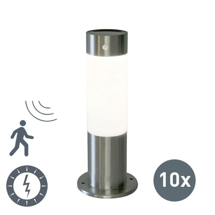 Set-de-10-balizas-ROX-30-acero-solar