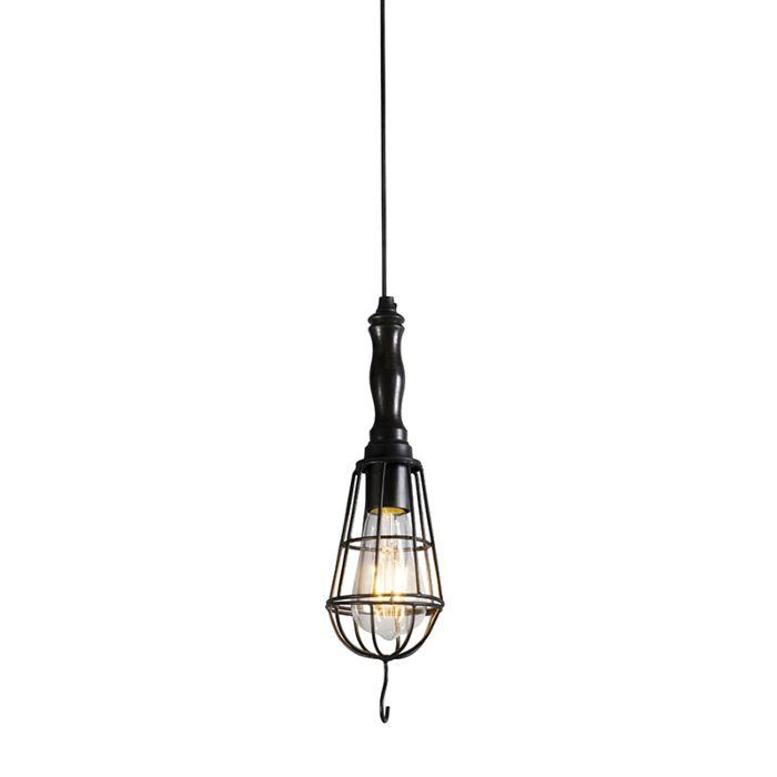 Lámpara-colgante-ARBER-negro