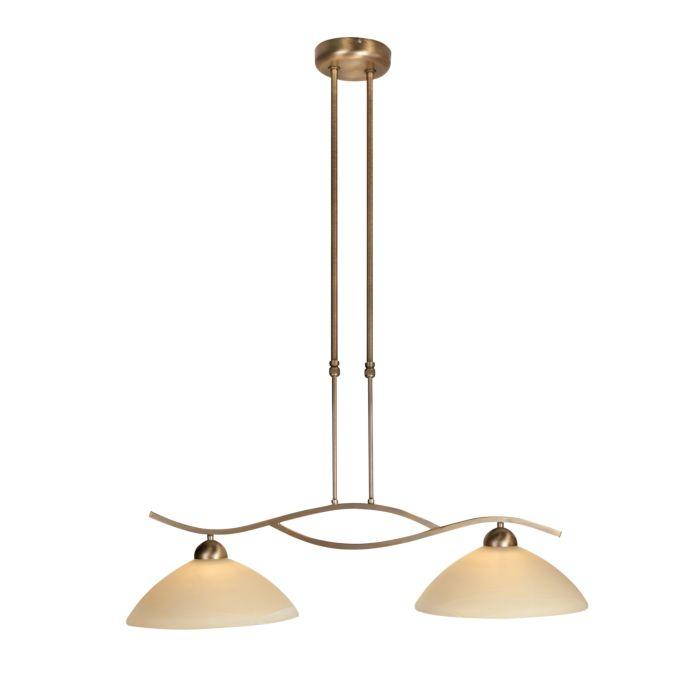 Lámpara-colgante-clásica-de-bronce-con-barra-deslizante-de-2-luces---Corsaire