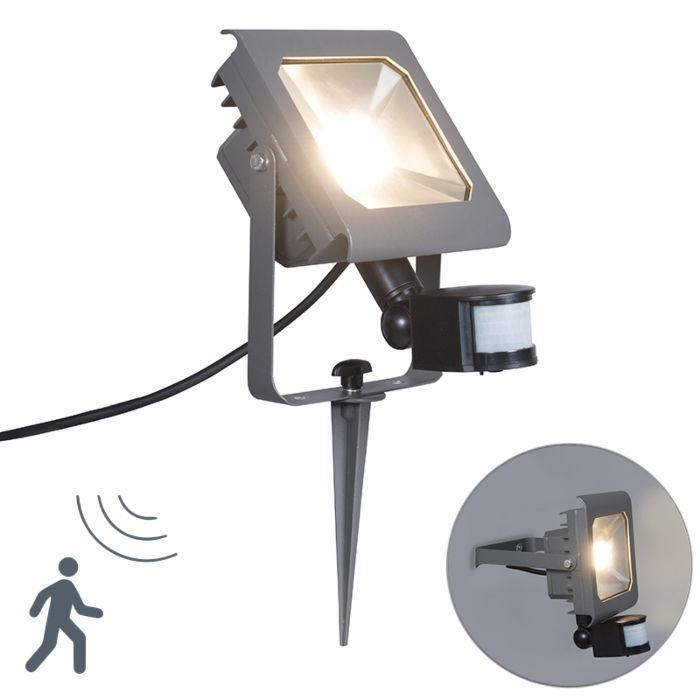 Proyector-LED-RADIUS-2-30W-gris-oscuro-con-estaca-y-sensor-de-movimiento