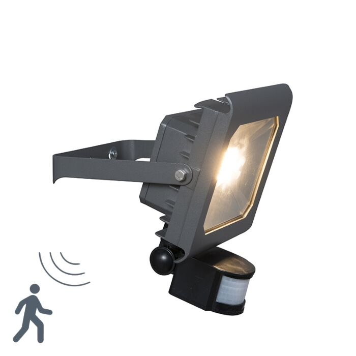 Proyector-LED-RADIUS-2-30W-gris-oscuro-con-sensor-de-movimiento-PIR