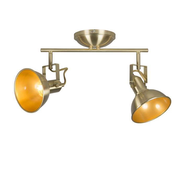 Plafón-dorado/latón-orientable-2-luces---TOMMY
