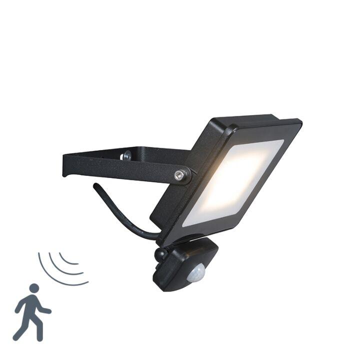 Proyector-LED-RADIUS-1-20W-negro-con-sensor-de-movimiento-PIR