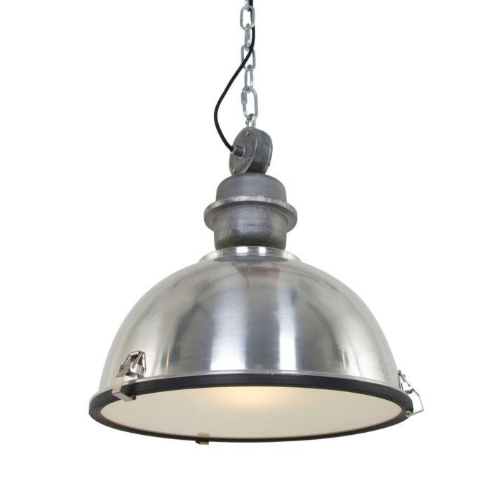 Lámpara-colgante-industrial-aluminio-con-acero---Gospodin