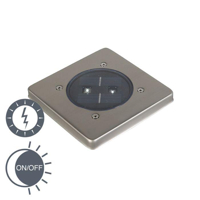 Punto-de-suelo-moderno-al-aire-libre-solar-con-LED-cuadrado---Erda