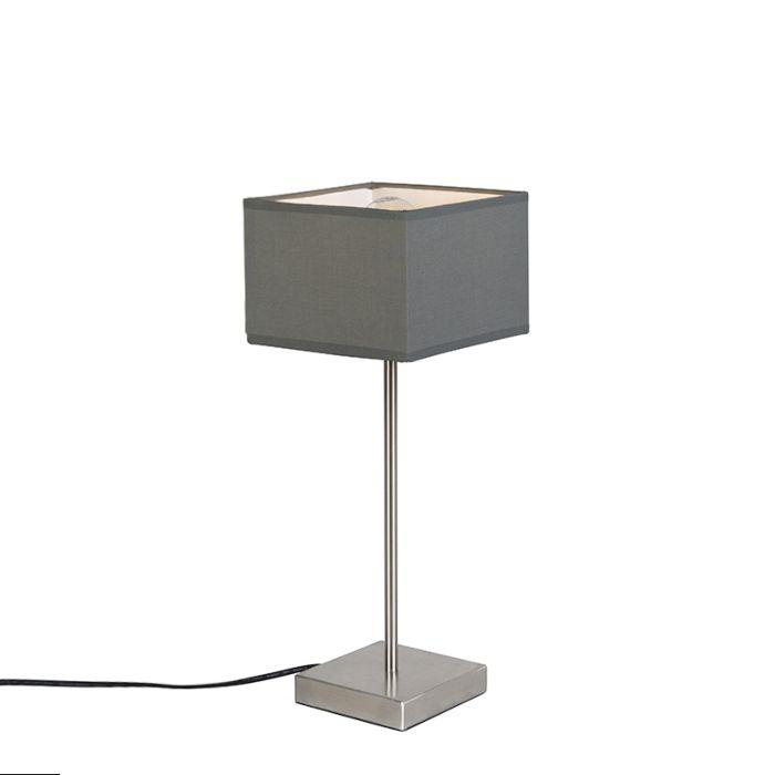 Lámpara-de-mesa-moderna-gris---VT-1
