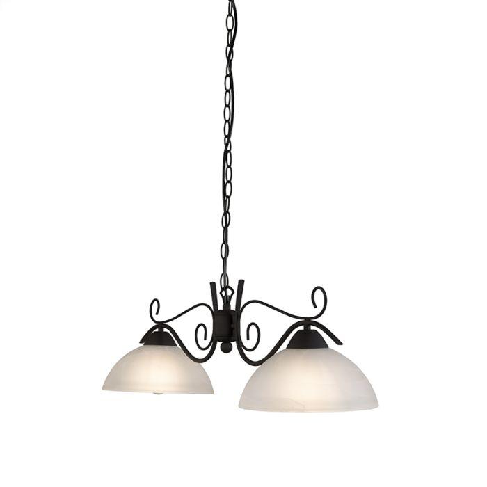 Lámpara-colgante-rústica-vidrio-marrón---DALLAS-2