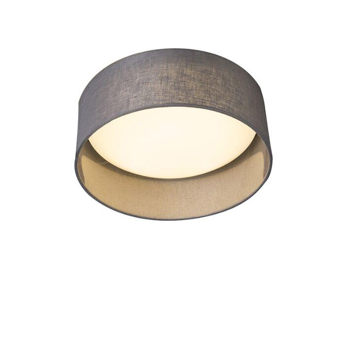 Lámpara-de-techo-gris-28-cm-con-LED---Drum-Combi
