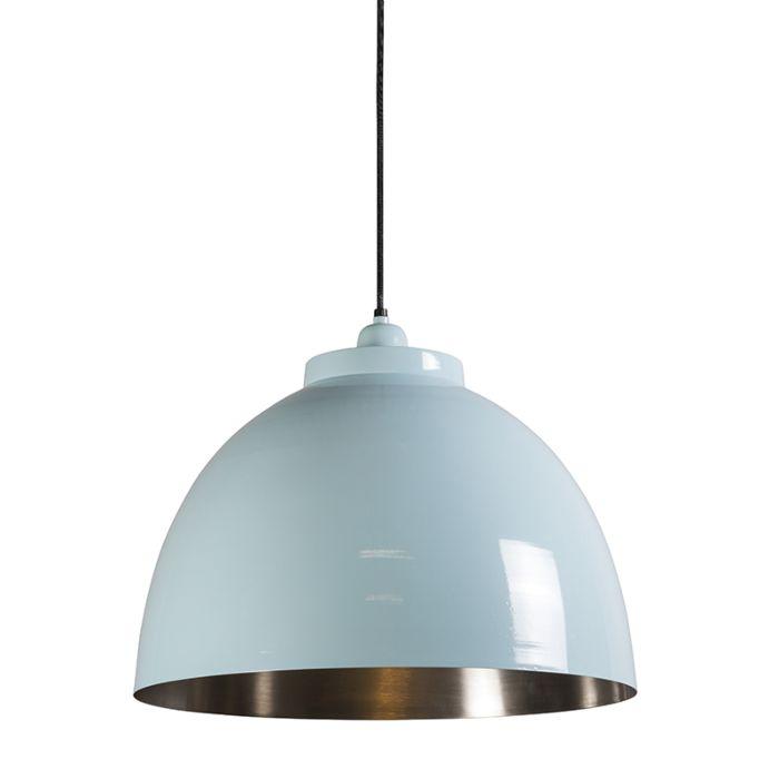 Lámpara-colgante-HOODI-azul-claro-níquel