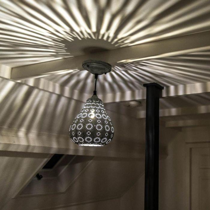 Lámpara-colgante-oriental-gris---BILLA