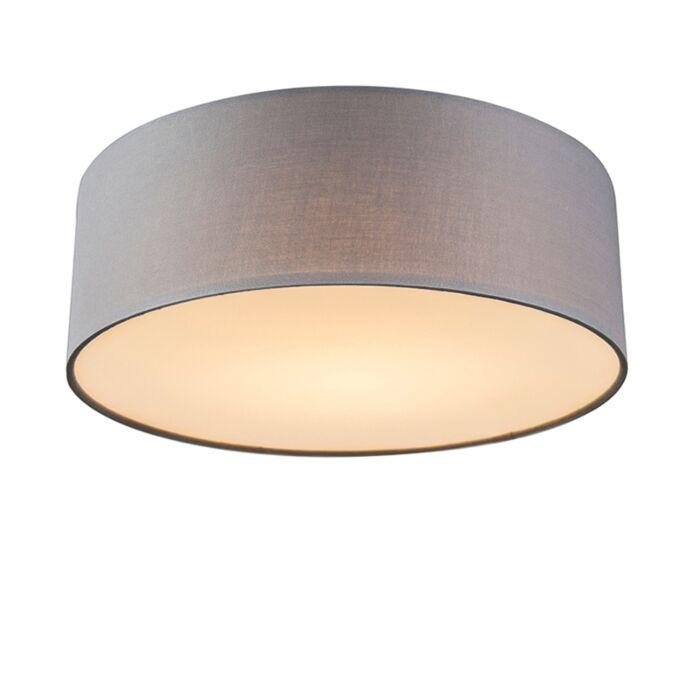 Lámpara-de-techo-gris-30-cm-con-LED---Drum-LED