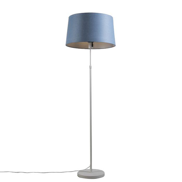 Lámpara-de-pie-blanca-con-pantalla-azul-45-cm-ajustable---Parte