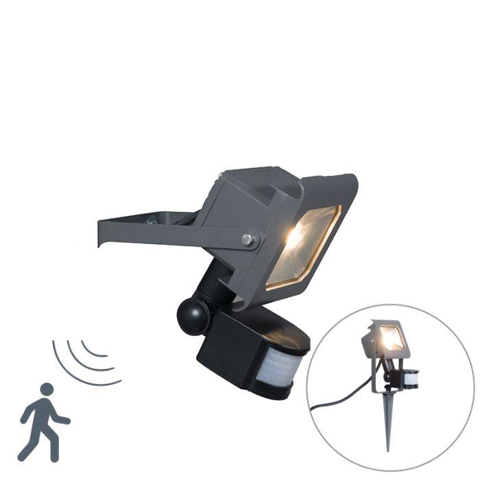 Proyector-LED-RADIUS-2-10W-gris-oscuro-con-estaca-con-sensor-de-movimiento-PIR