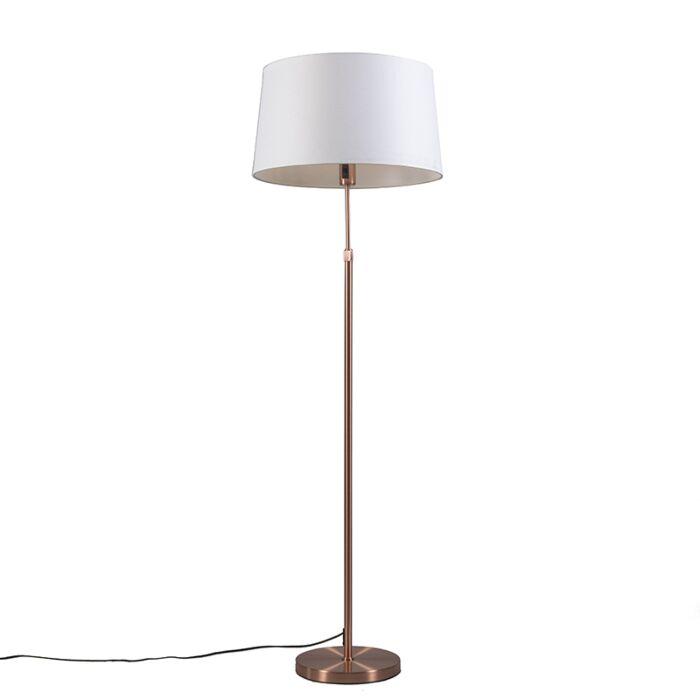 Lámpara-de-pie-de-cobre-con-pantalla-blanca-45-cm-ajustable---Parte