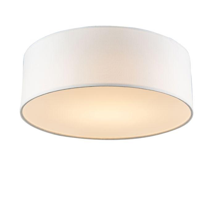 Lámpara-de-techo-blanca-de-30-cm-con-LED---Drum-LED