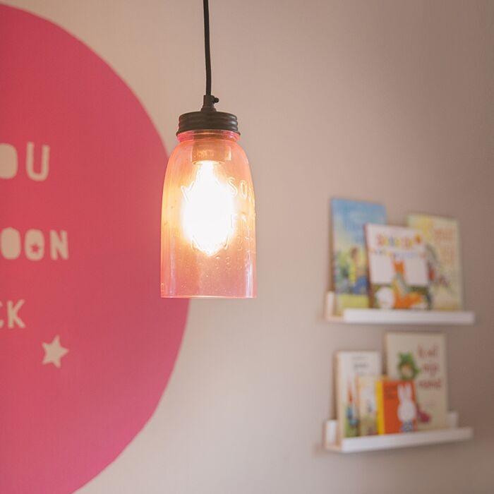 Lámpara-colgante-MASONS-rosa-pastel
