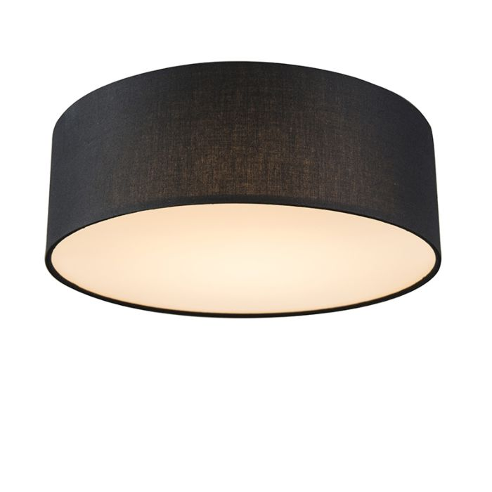 Plafón-negro-30cm-LED---DRUM-LED