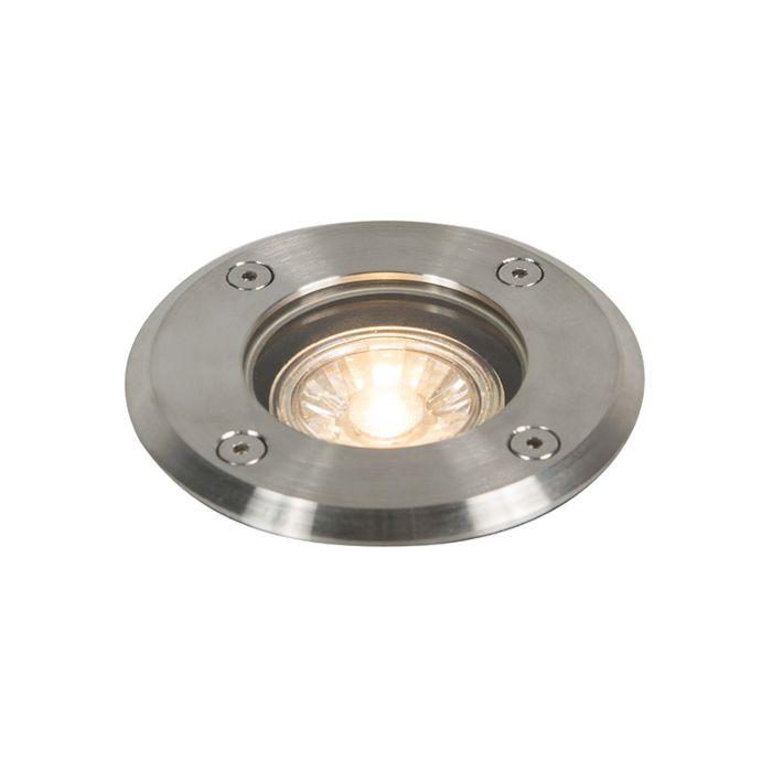 Punto-de-suelo-para-exteriores-de-acero-IP67---Redondo-básico