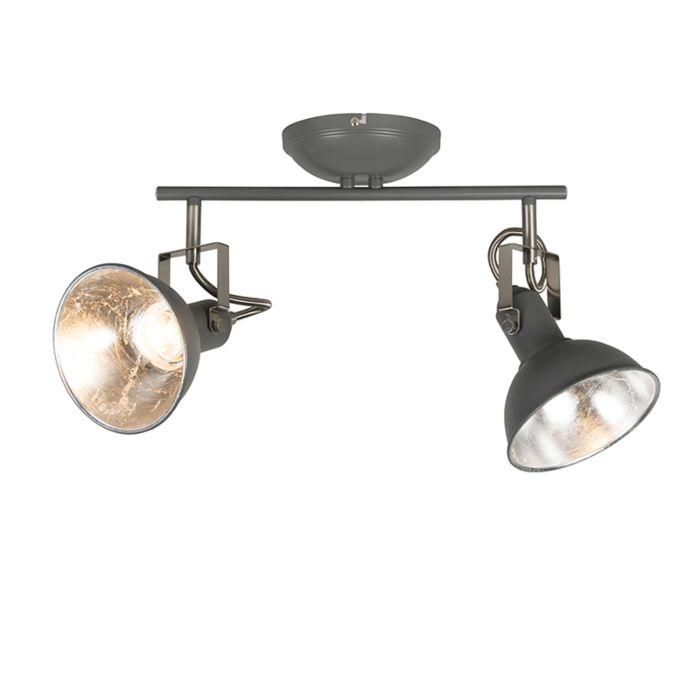 Plafón-antracita-2-luces-giratorio-e-inclinable---Tommy-2