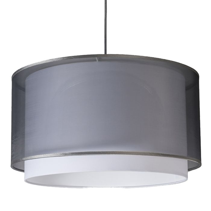 Lámpara-colgante-moderna-con-pantalla-negra-/-blanca-47/25---Duo