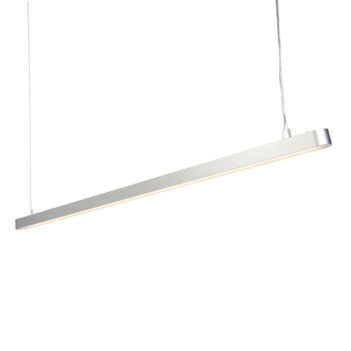 Lámpara-colgante-moderna-160cm-plateada-LED---DUCT-R